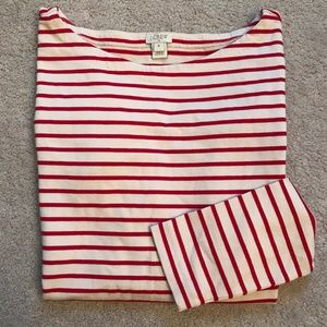 J Crew Striped Boatneck Long Sleeve Shirt M